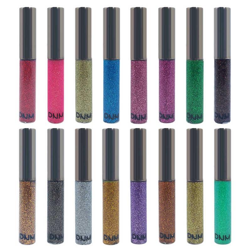 16 สี Silver Glitter อายแชโดว์อายไลเนอร์ Quick-DRY Eye Makeup Waterproof Liquid อายไลเนอร์ Shining Pearlescent Eye Liner