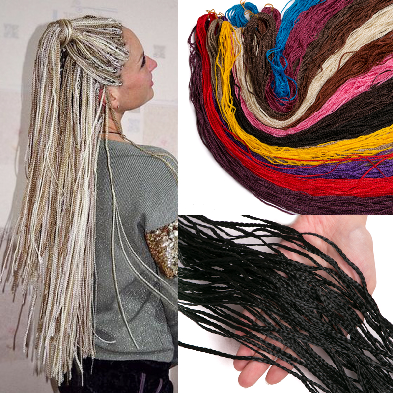 Crochet Braid Hair Extensions Zizi Hair Box Braids 50 Roots/piece Blonde Grey Strands Braiding Hair Small Twist