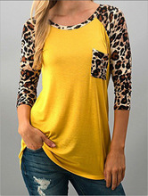 women t-shirts Leopard tee print top love female vintage tshirt s plus size woman long sleeve tops