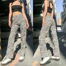 Baggy pants Elegant plus size pants Zebra Print Wide Leg