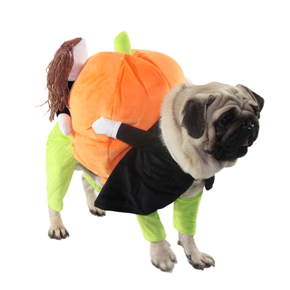 Image 2 - Dog Clothes Halloween Funny Pet Pumpkin Costume Pet Cosplay Special Events Apparel Outfit Dog Cute CostumesCat Clothing   -