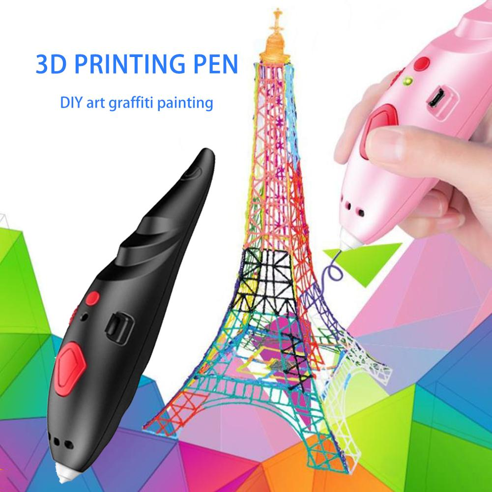 Wireless Charging 3D Printing Pen Three-dimensional Low Temperature Multifunctional Student Graffiti Pen With USB Charging