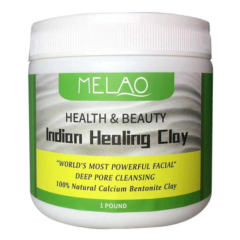 MELAO Indian Healing Bentonite Detox Clay, 100% Natural Powder, Face, Body Deep Pore Cleansing