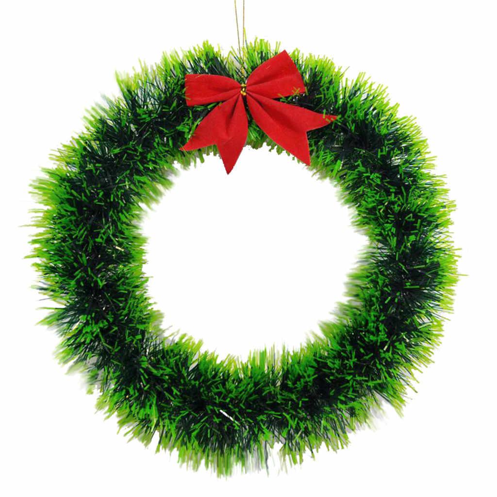 Рождественский венок ручной работы из ротанга Подвеска гирлянда торговый центр Рождественская елка дверь украшение венок guirnalda navidad 2020