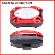 Raypal 3w luz traseira da bicicleta usb recarregável à prova dusb água luz traseira ciclismo brilhante led segurança acessórios