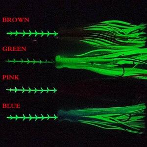 Image 2 - 4pcs 60g/120g/100g/150g/200g סנאפר תחתון לנענע לנענע ראש עם דיג פיתוי חצאית עופרת לנענע מפזזי דגים להוביל פיתוי