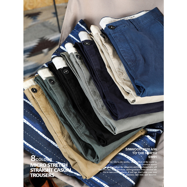 Classical slim fit chinos