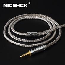 NICEHCK C16 4 16 Core כסף מצופה כבל 3.5/2.5/4.4mm תקע MMCX/2Pin/QDC/NX7 פין עבור LZ A7 C12 ZSX V90 TFZ NX7 MK3/F3/BL 03