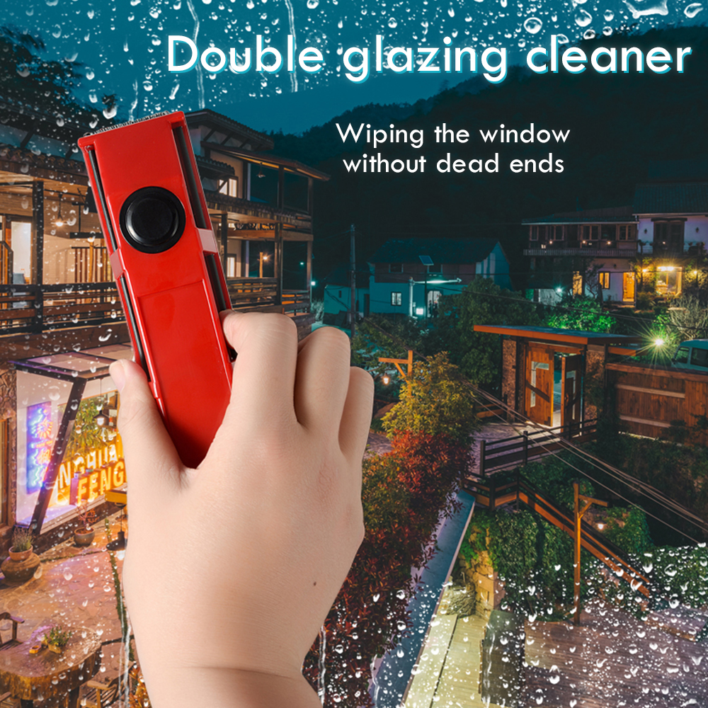 Wash Window Wiper Magnetic Brush Double Side Household Glass Cleaner Portable Magnetic Window Cleaning Brush Tool 3-30mm