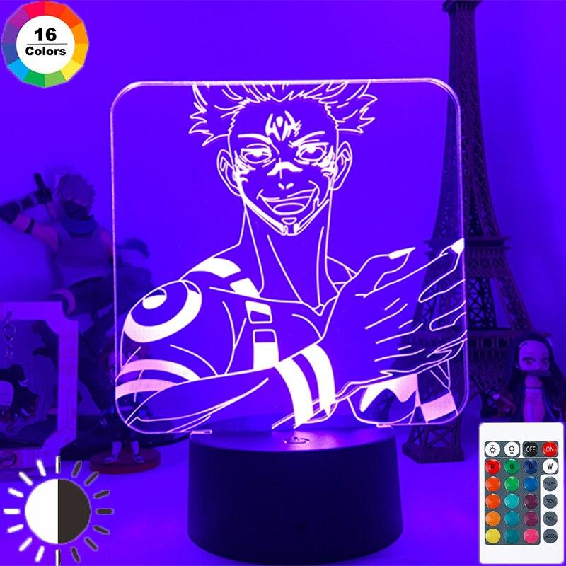 Anime Jujutsu Kaisen Ryomen Sukuna 3D Lamp Yuji Itadori Led Night Light for Birthday Gift Lamp Nightlight DropShipping Room Deco LED Night Lights  - AliExpress