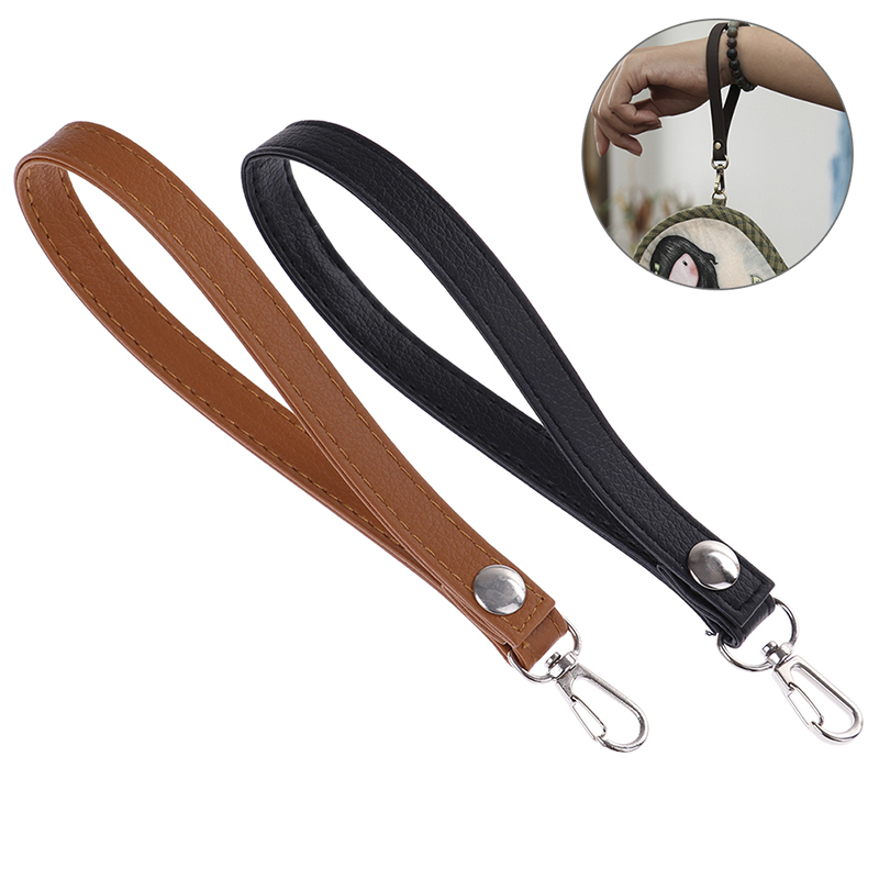 1XPU Leather Wristlet Bag Strap Handle Replacement For Clutch Purse Handbag