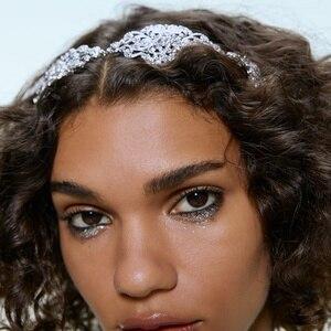 Женская металлическая повязка на голову ZA, вечерние обручи с цветочным узором в стиле панк, золотистого цвета, рождественские аксессуары дл...