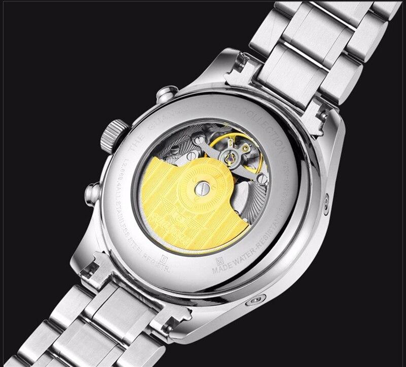 He1f5829dd9e0463e8652ddc673f28982F GUANQIN Relogio Masculino Automatic Mechanical Men Watches Waterproof Calendar Moon Leather Wristwatch otomatik erkek saat