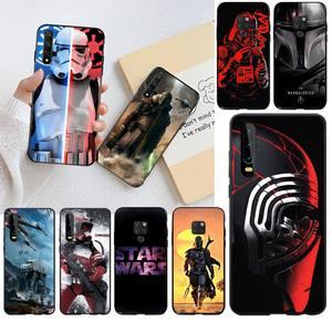 PENGHUWAN gwiezdne wojny miękkiego silikonu czarny etui na telefony dla Huawei P40 P30 P20 lite Pro Mate 20 Pro P inteligentny 2019 prime