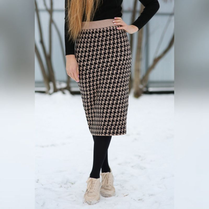 He1f59a79590d405ba155124b3444c8aen - GIGOGOU Luxury Jacquard Knit Sweater Skirt Elastic Band High Waist Midi Pencil Skirt Bodycon Women Long Skirts Jupe Femme Faldas