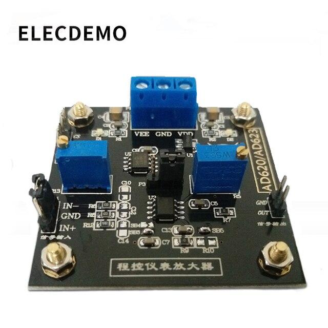 Плата усилителя AD623, модульный контрольно измерительный усилитель, потенциометр с цифровым управлением MCP41100, программируемый усилитель
