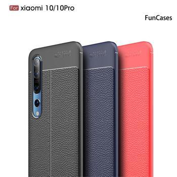 Lychee-Fundas protectoras con patrón de piel para Xiaomi, Protector suave de TPU para Xiaomi 10T Mi 10T Lite Poco M2 10 Ultra X3 NFC Pro C3 F2 Note X2 Youth