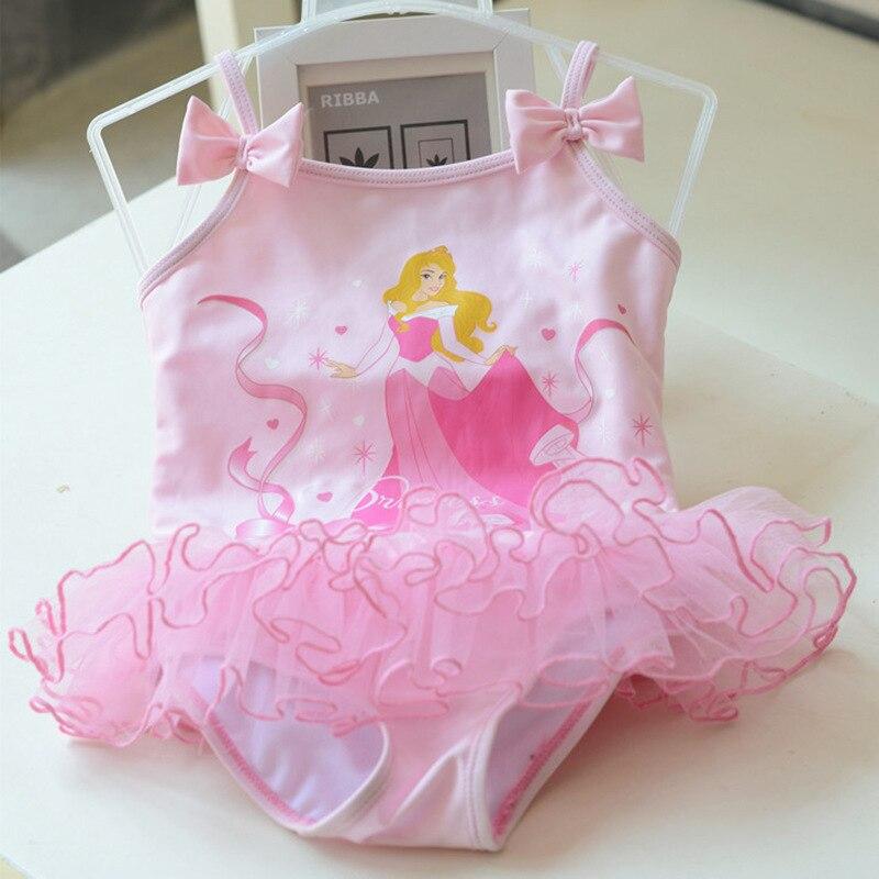 Children Korean-style Baby Girls Cute Ballet Tutu Hot Springs One-piece Small Bathing Suit Swimwear CHILDREN'S DAY Dancing Dress