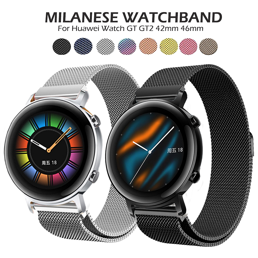 GT2 Watchband Milanese Strap For Huawei Watch GT 2 GT 46mm 42mm /GT Active/HONOR Magic Band Stainless Steel Wristband Bracelet