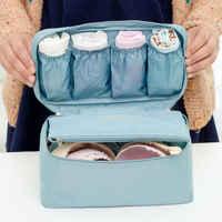 6 Grids Oxford Waterproof Underwear Organizer Storage Bag Bra Socks Bag Travel Box Makeup Cosmetic Case Wardrobe Drawer
