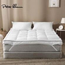 Peter Khanun Hot sprzedaży marka projekt biały puch kaczy gęsie pióro wypełniacz mata na łóżko 100% bawełna 233TC podwójna warstwa materac 016