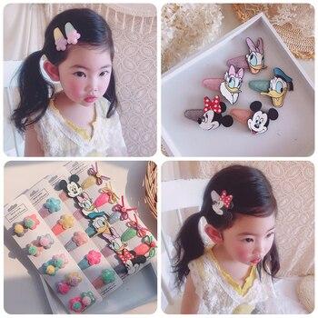 5 / Set Girls lovely cartoon animal flowers 5cm hairpin childrens hoop hair accessories