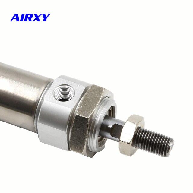 Mini cylindre pneumatique de cylindre dair dacier inoxydable de CDM2B alésage 20mm course 20-300mm SMC type tige simple à double effet CDM2B20