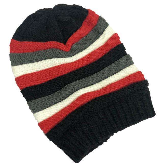 Color wool hat hip hop pleated hat long hip hop knit hat