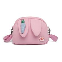 Hot sale Fashion Trend Cute Radish Rabbit Ears Canvas Bag New Literary Ladies Messenger Womens Free Shipping ZX-064.
