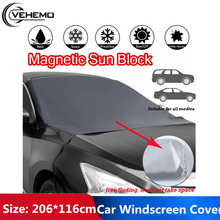 Portable Car SunShade Truck SUV Frost Guard Protector Magnetic Edges Polyester Fabric Waterproof Windshield Snow Cover
