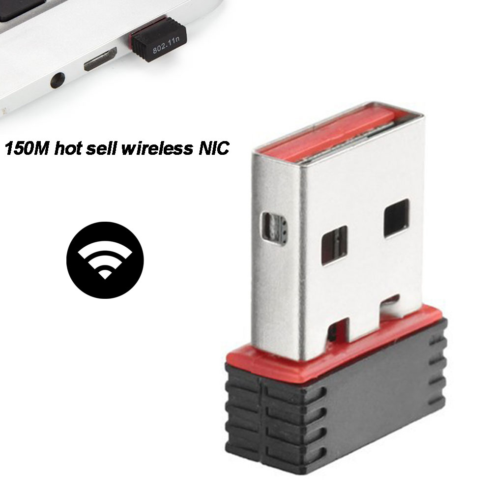 Беспроводной ключ сетевой карты для ПК USB LAN 150 Мбит/с Wifi адаптер приемник #5