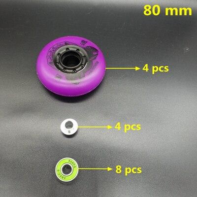 Frete grátis rodas de rolo roda de skate roda roxa 90 a 80 mm
