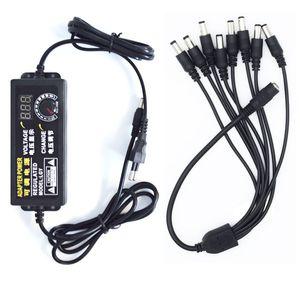 Image 3 - Led מסך מתכוונן כוח מתאם AC כדי DC 1 כדי 4/8 9V 24V האוניברסלי תצוגת מסך מתח מוסדר אספקת חשמל adatpor 24V