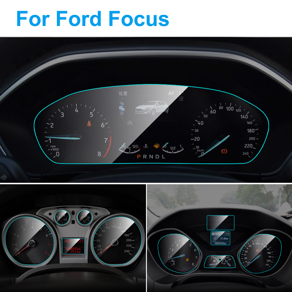 Car Instrument Panel Screen Protector For Ford Focus MK 3 MK 4 Interior Dashboard Membrane Protective TPU Film Car Accessories