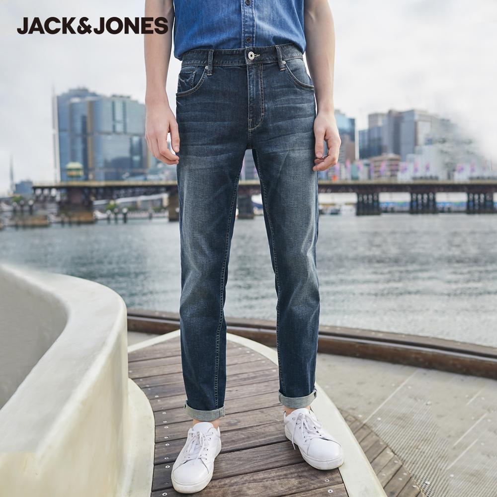 JackJones Men's Breathable Slim Fit Casual Stretch Jeans Menswear| 220132568