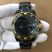 40mm Case Black Rolexstyle Watch Case with 20mm watch strap Fit SUB GMT SKX007 SRPD For NH35 NH36 Movement Men's watches parts