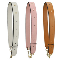 Solid Color Shoulder Bag Strap PU Leather Adjustable Long Strap For Crossbody Women Bag Accessories Handbag Parts Replacement
