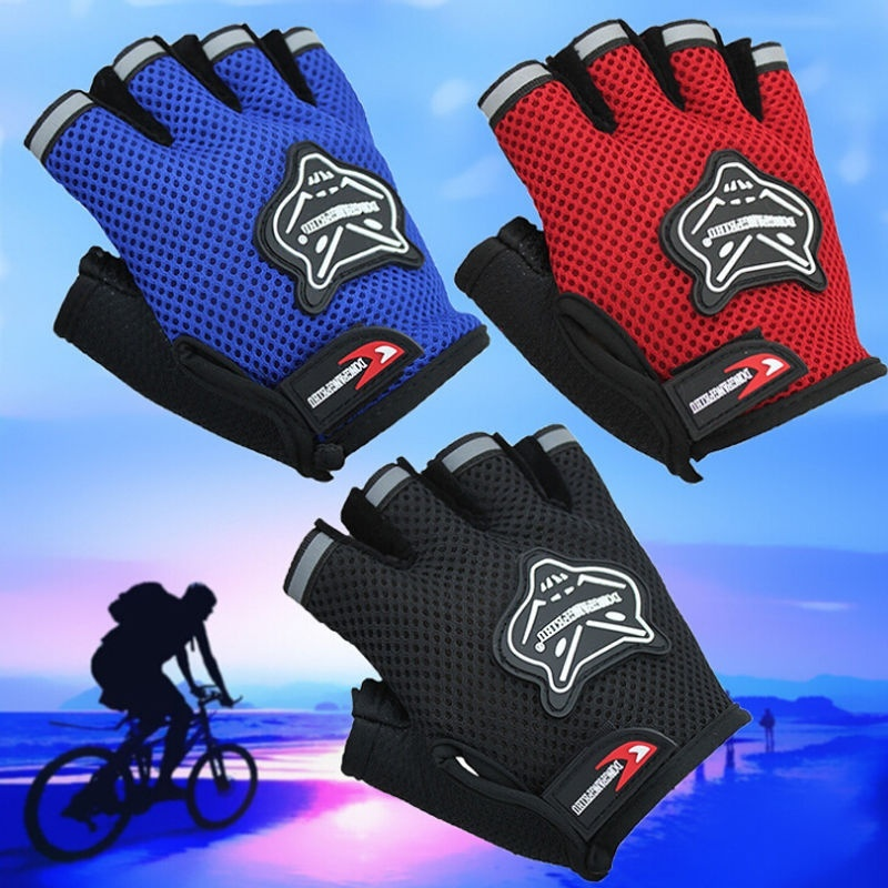 Kids Adult Climbing Outdoor Sport Bicycle Cycling Bike Half Finger Mesh Glove