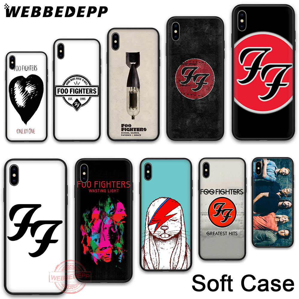 WEBBEDEPP 214N FOO FIGHTERS Soft Silicone Phone Case for iPhone X XR XS 11 Pro Max 6 6S 7 8 Plus 5 5S SE Back Shell image