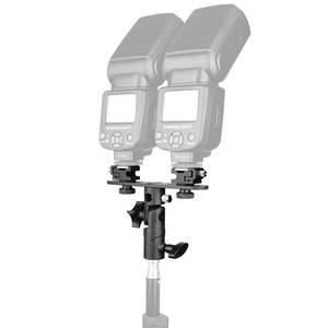 Image 3 - עלייה סוגר פלאש חם נעל מבזק Stand Bracket לעמוד באור מחזיק מטריה הר 1/4 אינץ כדי 3/8 אינץ תואם עם