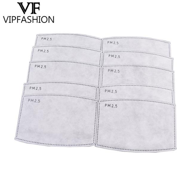 VIP FASHAION 20pcs/Lot Disposable PM2.5 Adult Filter Mouth Mask Anti Haze Bacteria proof Flu  Kid Mask Filter Paper Health Care 5