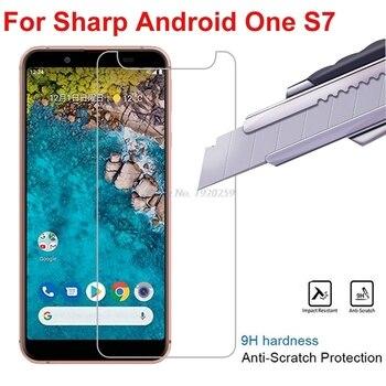 Перейти на Алиэкспресс и купить 2 шт., острое закаленное стекло для экрана Android One S7, Защитная пленка для экрана Sharp Android One S7, стекло Android One S7 5,5дюйм