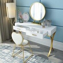Скандинавский туалетный столик для спальни маленькая сетка Huxing красный ремень ящик Туалетный столик простой Твердый Деревянный косметический столик Новинка