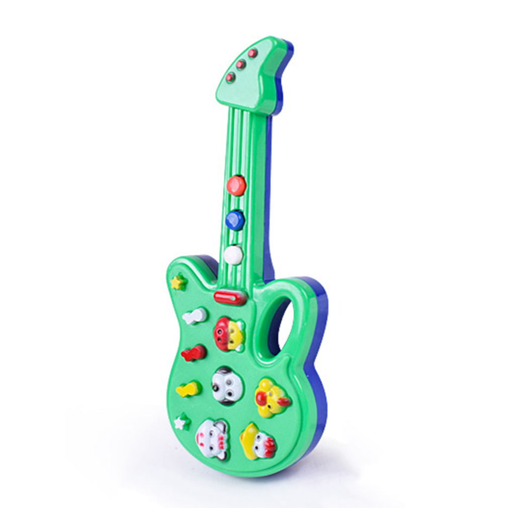 Hot Toy Music Electric Guitar Toys for Kids Baby Nursery Rhyme Music Simulation Plastic Guitar Baby Kids Best Gift Random Color image