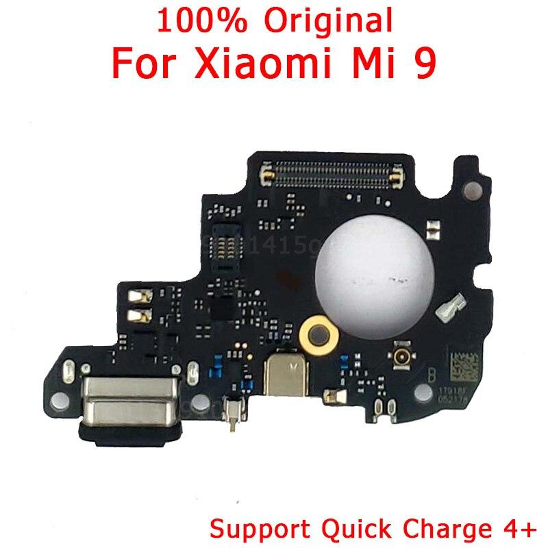 Original Spare Parts For Xiaomi Mi 9 Charging Port For Mi9 Charge Board USB Plug PCB Dork Connector Flex Cable