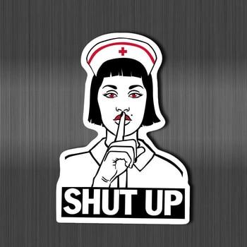 цена на Nurse modeling shut up stickers for laptop decal fridge skateboard doodle toy Scrapbook Gifts sticker