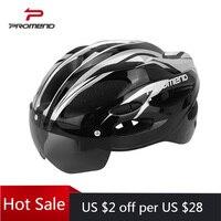 PROMEND Fahrrad Helm Bike Berg Motorrad Sport Sicher Hut mit Abnehmbare Schutzbrillen Objektiv Visier Unisex Outdoor Radfahren Helm