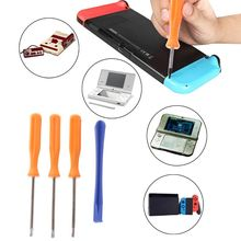 цена 4 in 1 Repair Tool Kit Precision Security Tri-Wing Cross Screwdriver Opengin Kit Multitool Hand Prying Tools for Nintendo Switch