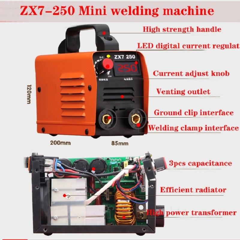 Zx7 Serie DC Inverter ARC Schweißer 220V IGBT MMA Schweiß Maschine 250 Amp für Home Anfänger Leichte Effiziente
