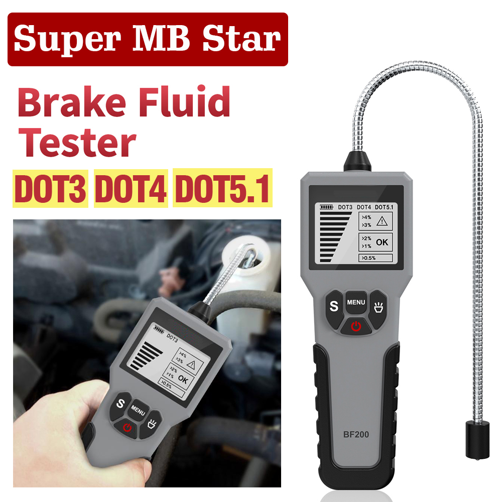 New BF200 BF100 Accurate Oil Quality Check Test Universal Car Brake Fluid Tester Automotive Liquid Testing Tool LCD LED Display
